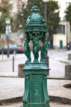 Food tip #4:  Drinks in Paris are ridiculously expensive.  DO NOT buy bottled water in the street!  By it in the supermarket.  Refill it from these green 'Wallace Fountains' throught the city.  Parisian tap water is fine to drink.