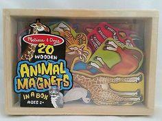 Melissa & Doug 20 Animal Magnets, Wooden Box, Pre-School, Toddler Kids Game