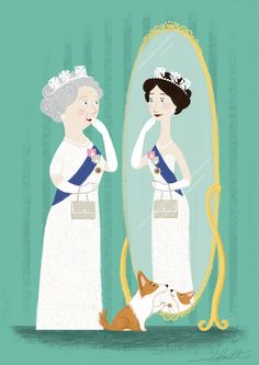 Reflecting on all that's come and all that lies ahead. #print #art #UK #British #Britain #jubilee #Queen #Elizabeth
