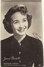 Jane Powell Autograph: Early Photo, hand signed. CoA Old Hollywood Actresses, Classic Actresses, Hollywood Actor, Classic Movies, Hollywood Stars, Classic Hollywood, Hollywood Glamour, Ann Sothern, Jane Powell