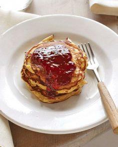 Hazelnut Pancakes with Raspberry Sauce Recipe