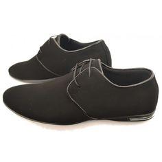 Heren Casual Zwarte Suede Sneaker