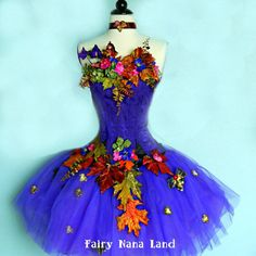 Adult Fairy Costume  corset bust 34 with tulle by FairyNanaLand, $240.00