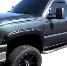 """""""Rivet Pocket Style Fender Flares for Chevrolet Silverado/GMC Sierra Flares are 4 High and Provide an Extra Wide. 2004 Chevy Silverado, Trimmer For Men, Fender Flares, Car Accessories, Trucks, Pocket, Vehicles, Cars, Style"""