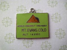 Vintage Japan Enamel Mt Evans Colo Travel by oneofakindwisconsin