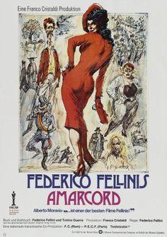 Amarcord (1973) - Italian -  Magali Noël, Bruno Zanin  - Director: Federico Fellini  IMDB: A series of comedic and nostalgic vignettes set in a 1930s Italian coastal town.