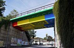 Lego-inspired bridge in Germany