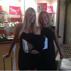 Claudia Oddi designer and the beautiful Martina Stella at Maserati party.