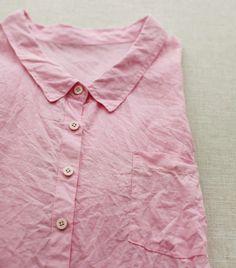 Pink PURE Linen WIDE 150cm, U2836 - for a wiksten skirt