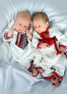 Ukrainian - Hit the cute button! Seeing such small babies in Ukrainian traditional costume here is so nice!
