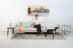 Art on Wood - Made in Holland - Dutch Design by Marga van Oers. Title: New York with Marga.