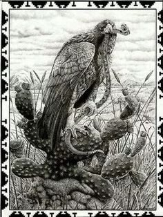 Mexican Eagle and Snake Mayan Tattoos, Mexican Art Tattoos, Symbol Tattoos, Polynesian Tattoos, Hand Tattoos, Aztec Drawing, Arte Latina, Mexican Artwork, Aztec Tattoo Designs