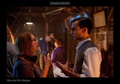 Henry Lloyd-Hughes and director Sloane U'Ren on the set of the movie Dimensions.  www.dimensionsthemovie.com