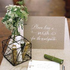 Wedding Guest Book Ideas - Martha Stewart Weddings Inspiration