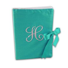 Silk Solid Embroidered Initial Photo Album