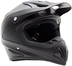 Adult Offroad Helmet & Goggles Gear Combo DOT Motocross ATV Dirt Bike MX Flat Matte Black ( XXL )