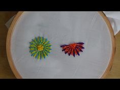 Hand Embroidery: Long and Short Separate Chain Stitch - YouTube