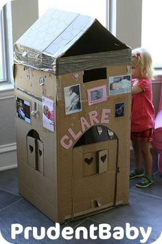 DIY inspirations: doll houses and forts We still have that really large box in the garage!