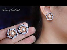 Beaded Earrings Patterns, Bracelet Patterns, Making Bracelets With Beads, Beaded Bracelets, How To Make Earrings, Bead Earrings, Handmade Jewelry Tutorials, Earring Tutorial, Bead Jewellery