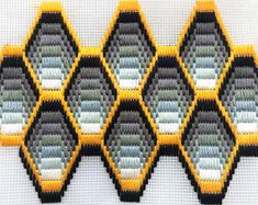 Hoop Framed Bargello Needlepoint Florentine Long stitch Medallions handmade Azure, Lilac Yellow Purple Tapestry Embroidery Textile Art Loop – Willkommen in meiner Welt Motifs Bargello, Broderie Bargello, Bargello Patterns, Bargello Needlepoint, Needlepoint Stitches, Needlepoint Canvases, Embroidery Stitches, Textile Patterns, Needlework