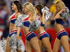 Exposed pro football cheerleaders