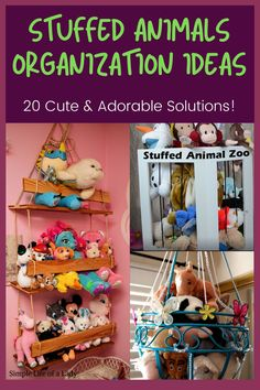 How to organize stuffed animals and keep them that way! Organizing Stuffed Animals, Storing Stuffed Animals, Big Stuffed Animal, Stuffed Animal Storage, Zoo Animals, Animals For Kids, Diy Storage, Storage Ideas, Toy Hammock