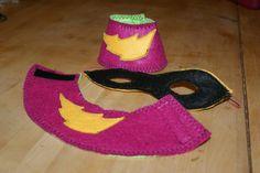 Make me a superhero! Felt Superhero accessories.