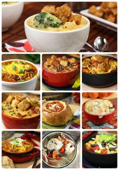 10 weeknight soups Collage