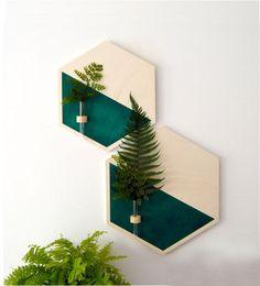 Hanging planterwall planter woodplanterhanging planter - All About House Plants Decor, Plant Decor, Wood Planters, Hanging Planters, Etsy Crafts, Handmade Crafts, Diy Wall Decor, Diy Bedroom Decor, Spa Interior Design