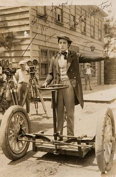 Buster Keaton - invented the first segway?