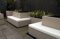 Planter Boxes  and seating
