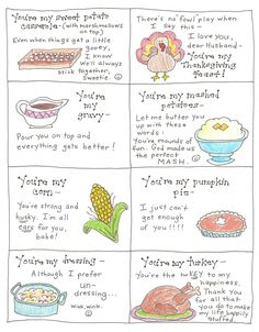 Thanksgiving Love Notes for the Happy Hubby