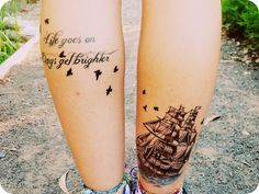 The leg with the ship on - love the placement.... people are so creative!