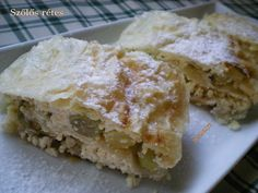 Gesztenye receptjei: Szőlős rétes Naan, Apple Pie, Fudge, Sweet, Food, Apple Cobbler, Essen, Yemek, Meals