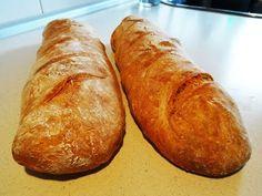 PAN CANILLA - BAGUETTE , receta muy fácil - YouTube