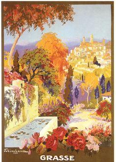 Vintage Travel Poster - Grasse - Côte d'Azur.