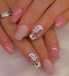 100 Beautiful Butterfly Nail Art Designs and Colors - Spring Nails Butterfly Nail Designs, Butterfly Nail Art, Butterfly Colors, Best Nail Art Designs, Gel Nail Designs, Nails Design, Nail Designs Spring, Design Design, Design Ideas
