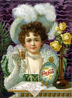 A Coca-Cola chromolithograph from the 1890s. Now available as a Juniper Gallery Fine-Art Print in three delicious and refreshing sizes. Coca-Cola is a registered trademark of the Coca-Cola Company.