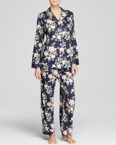 Lauren Ralph Lauren Classic Notch Collar Pajama Set | Bloomingdale's