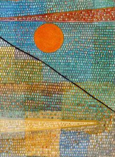 """""""Ad Pamassum by Paul Klee This work is considered to be Klee's masterpiece and best example of his pointillist style. Acrylic Painting Lessons, Oil Painting Abstract, Abstract Art, Oil Paintings, Paintings Famous, Watercolor Artists, Indian Paintings, Painting Art, Watercolor Painting"""