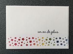 """Carte """"myriade d'étoiles"""" pour un anniversaire ou pour un faire-part de naissance / baptême..."""