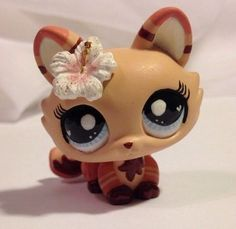 Littlest pet shop Kitty * Bahama * Custom Hand Painted LPS Cat OOAK #Hasbro