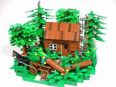 Woodchopper Hut: A LEGO® creation by Peter deYeule : MOCpages.com