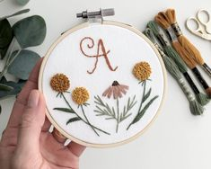 Hand Embroidery Patterns Free, Hand Embroidery Videos, Embroidery Stitches Tutorial, Embroidery Flowers Pattern, Simple Embroidery, Hand Embroidery Designs, Cactus Embroidery, Embroidery Ideas, Halloween Embroidery