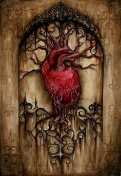 anatomical heart - The Garden by Corviid.deviantart.com