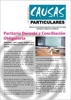 """""""Causas Particulares"""". Año I Número 2 Marzo 2014"""