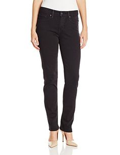 Levis Womens Mid Rise Skinny Jean Black Sateen 31 US 12 R -- Check out the image by visiting the link.