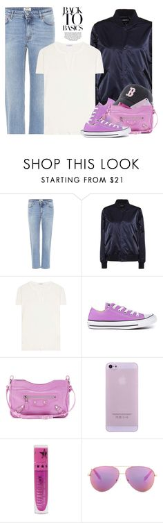 """""""Opening Day"""" by hollowpoint-smile ❤ liked on Polyvore featuring Acne Studios, A.P.C., James Perse, Converse, Balenciaga, Jeffree Star and Victoria Beckham"""