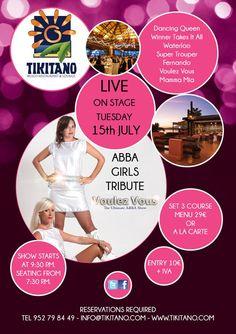 The Abba Girls en el restaurante Tikitano en Estepona