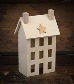 free images to make saltbox houses | Unfinished Wooden Primitive Saltbox House - Decorative Accents ...